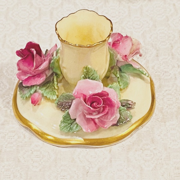 Crown Staffordshire Bone China Candle Holder *94*